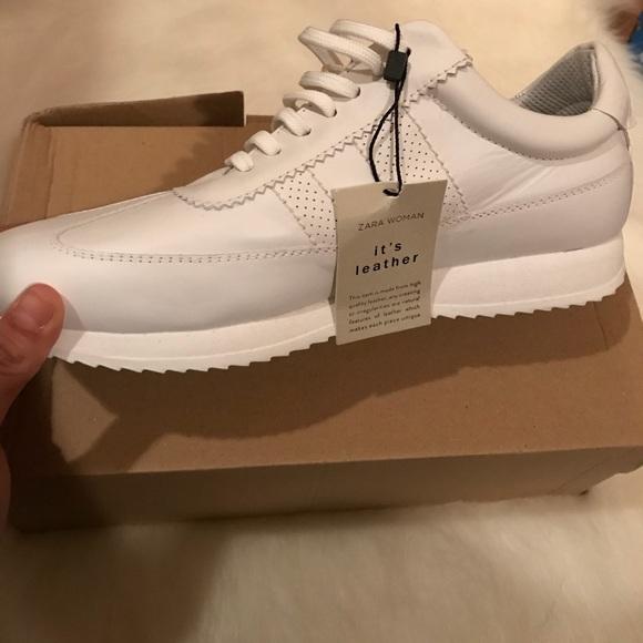 Zara Shoes   Womens White Sneakers